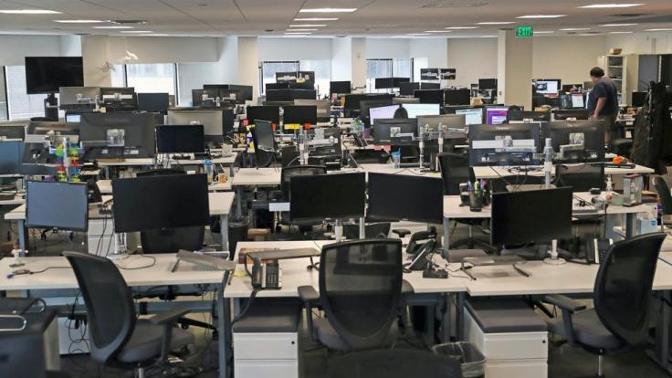 Offices Send Their Workers Home